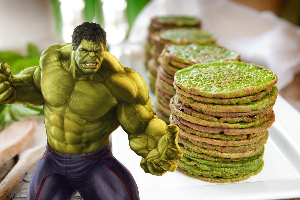 Incredible Hulk Pancakes